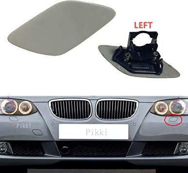 Pikki for BMW E92 E93 3-Series 2011-2014 LCI Front Bumper Headlight Washer Cover unpainted, Left Side