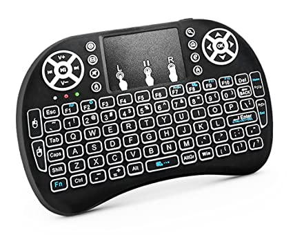 181a1f9e055 RocketBus Wireless Mini Keyboard Remote Control with Touchpad Mouse Backlit  LED Light for MX MXG Matricom