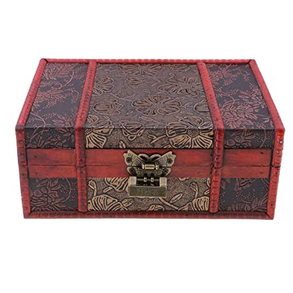Flameer Handmade Chinese Vintage Style Wooden Jewelry Box Ring Earring Storage  Box Case #A