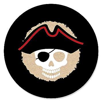 Amazon Beware Of Pirates Pirate Birthday Party Circle Sticker