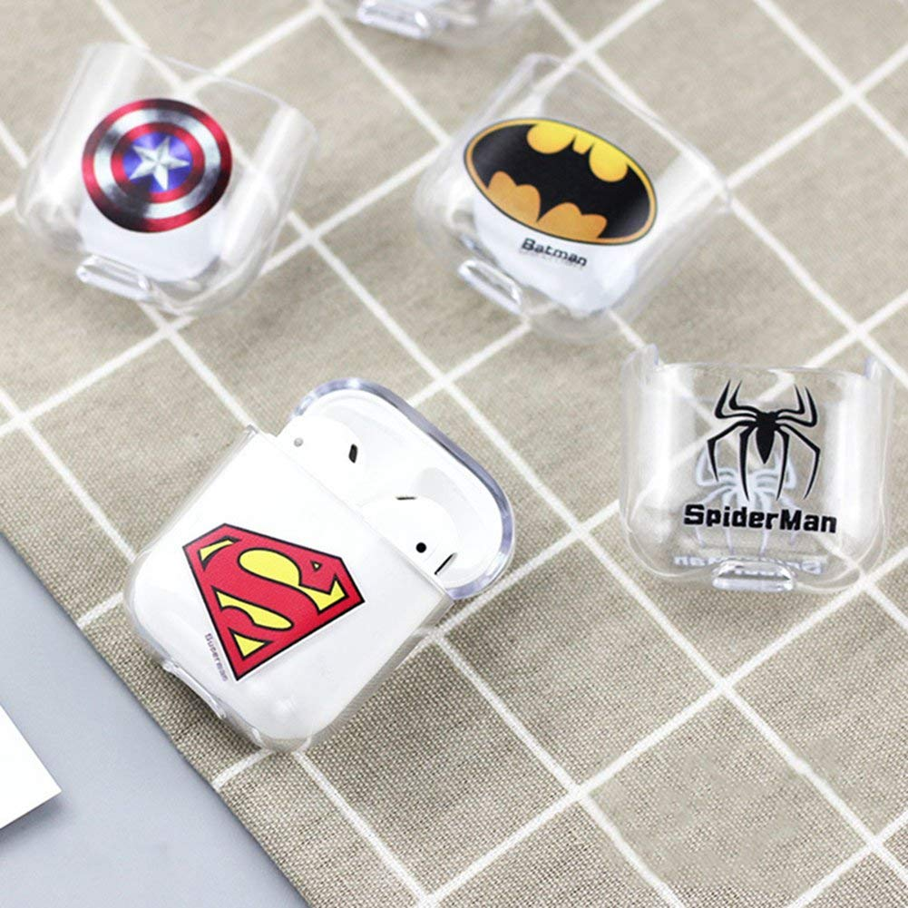 RosewineC The Avengers Cute Cartoon Plastic Case Protective Holder Bag for AirPods Headset Accessories 1