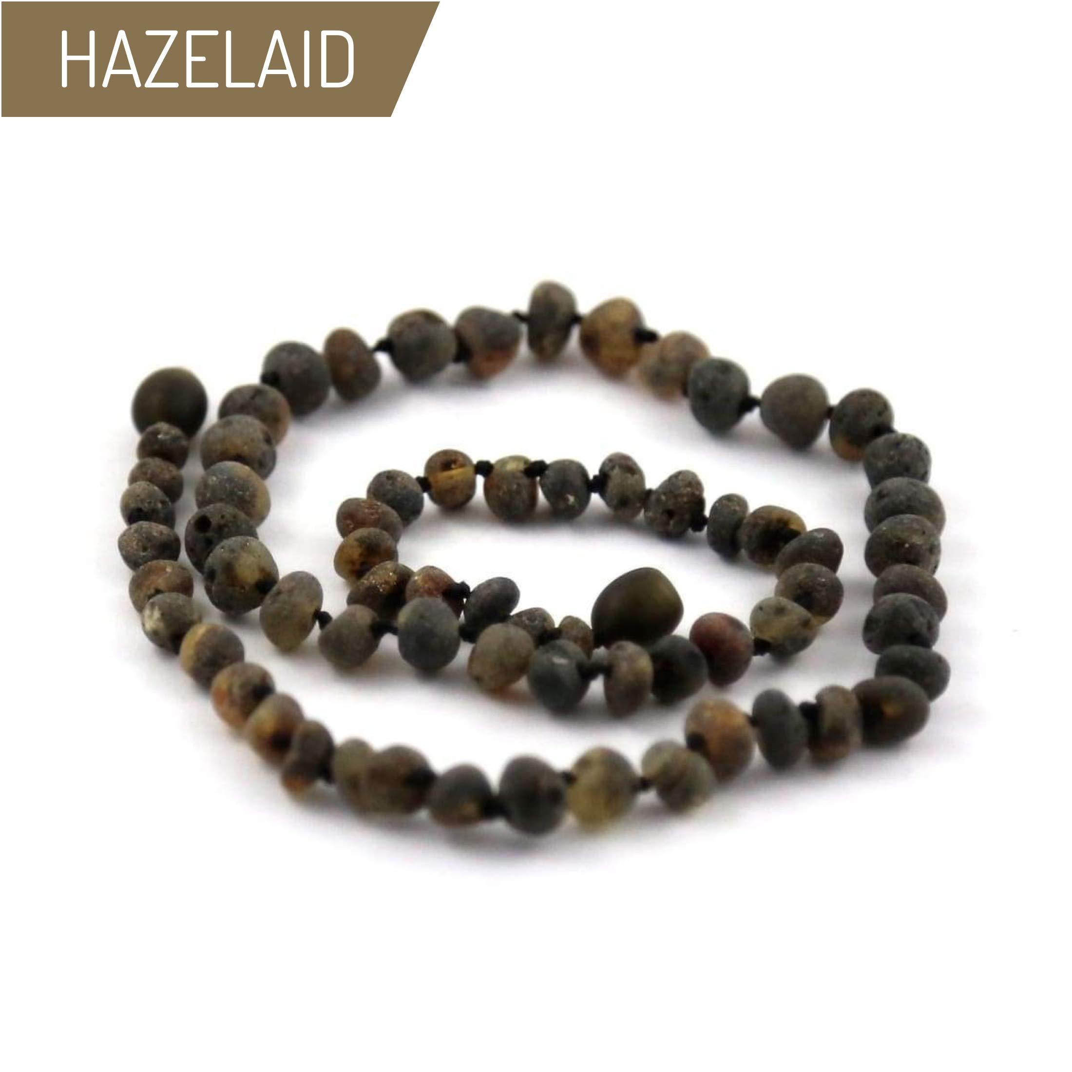 Hazelaid (TM) 12'' Twist-Clasp Baltic Amber Asteroid Necklace by HAZELAID