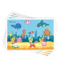 Disposable Stick-on Placemats 40 Pack for Baby & Kids Table Topper Disposable, Toddler...
