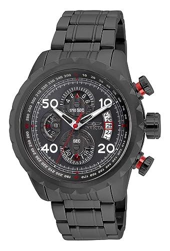 Invicta Aviator Reloj de Hombre Cuarzo Correa y Caja de Acero 28158: Amazon.es: Relojes