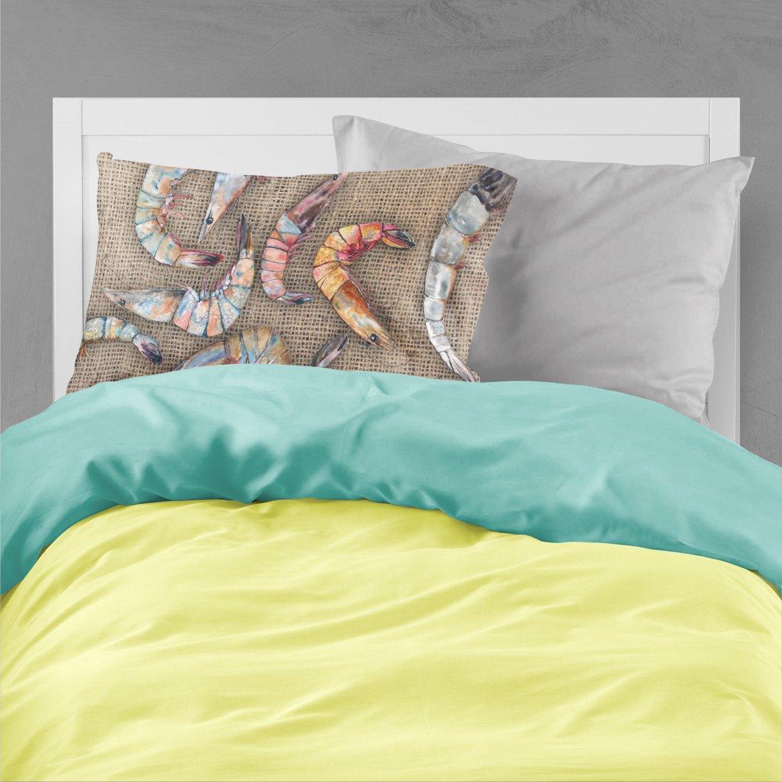 Large Multicolor Carolines Treasures 8738PILLOWCASE Shrimp Moisture Wicking Fabric Standard Pillowcase