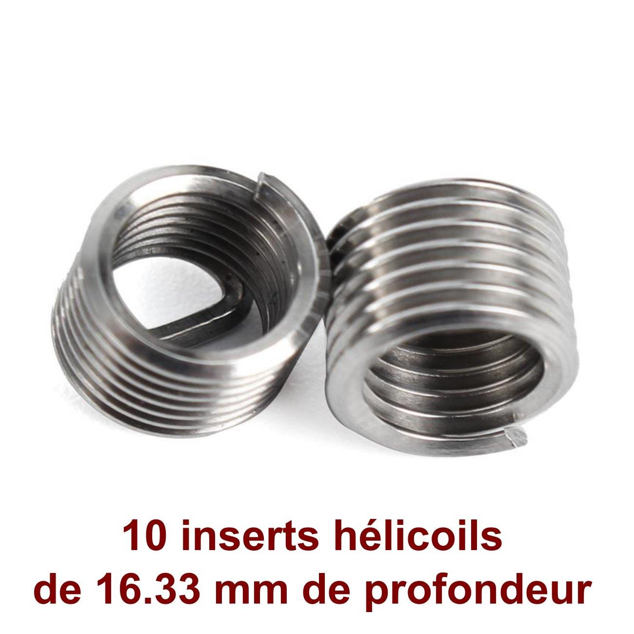 MECASTONE HELICOIL M8 x 1.25 Coffret de r/éparation de Filetage Filets rapport/és Inserts h/élicoil kit 25 pi/èces M8x125