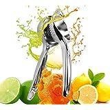 GiBot Zitronenpresse, Limettenpresse Saftpresse Zitruspresse für Zitronen Orangen und Limetten Spülmaschinenfest mit Korrosionsschutz, Silber