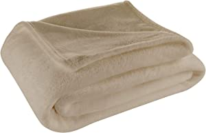 Cosy House Collection Full/Queen Size Fleece Blanket – All Season, Lightweight & Plush Hypoallergenic - Microfiber Blankets for Bed, Couch or Travel - Tan