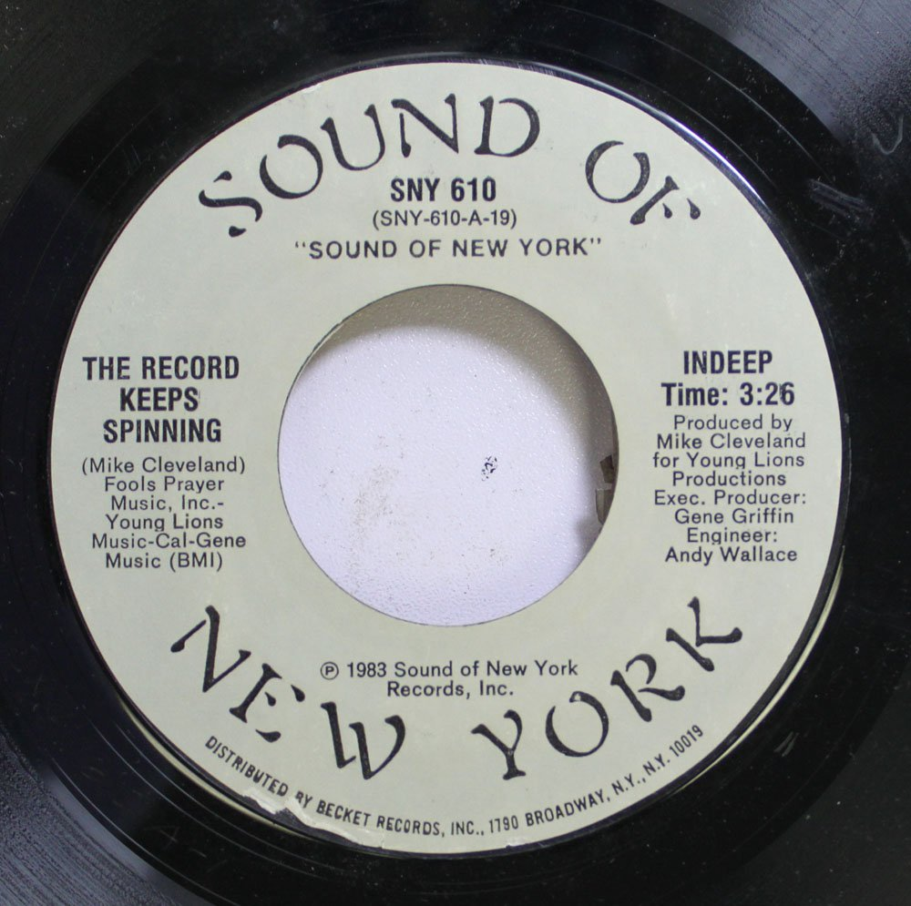 SOUND OF NEW YORK 45 RPM THE RECORD KEEPS SPINNING / INDEEP: SOUND ...