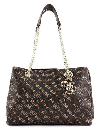 Guess Mia Handbag Dark Brown: Amazon.co.uk: