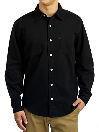 Levi s Men s Barry Classic Denim Shirt - Black at Amazon Men s Clothing  store  a8c0d55fbfa0
