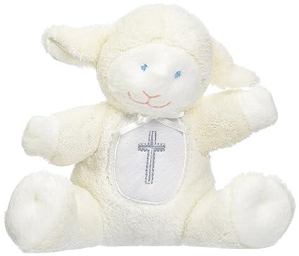 Mary Meyer - Manta de cordero para bautizo Sonajero de bautizo Lamb