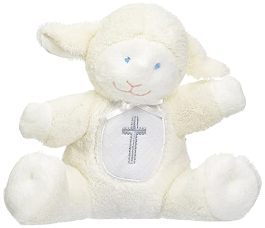 Jesus Loves Me Mary Meyer Inspirational Wind-Up Musical Lamb Soft Toy