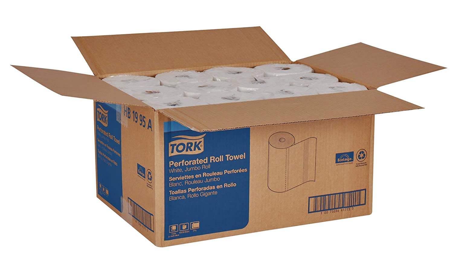 Amazon.com: Tork HB1995A Jumbo Roll Perforated Paper Roll Towel, 2-Ply, 11