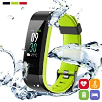 PORTHOLIC Fitness Armband Fitness Tracker mit Pulsmesser -IP68 Wasserdichtes-[GPS] Multisport Fitnessaufzeichnung,Schrittzähler,Schlafmonitor,Kompatibel mit iPhone Android Für Damen,Herren und Kinder