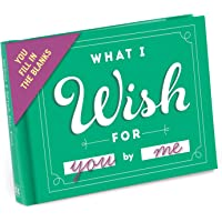Knock Knock 4.5 x 3.25 Inches Fill-In-The Blank Journal, What I Wish For You (50064)