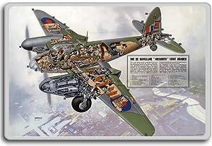 De Havilland Mosquito Light Bomber - Vintage Airplanes and Aviation fridge magnet