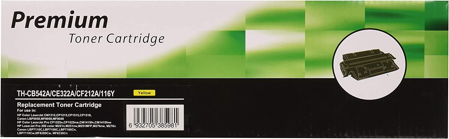 Monoprice Compatible Toner Cartridge Replacement for HP CB542A ( Yellow )