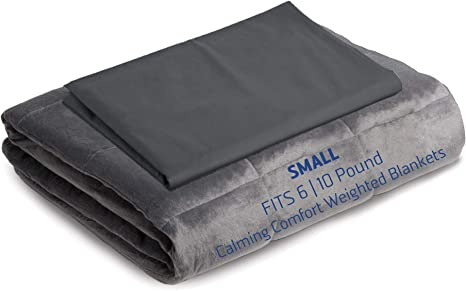 Calming Comfort By Sharper Image Official Duvet Cover for Grey Weighted Blanket