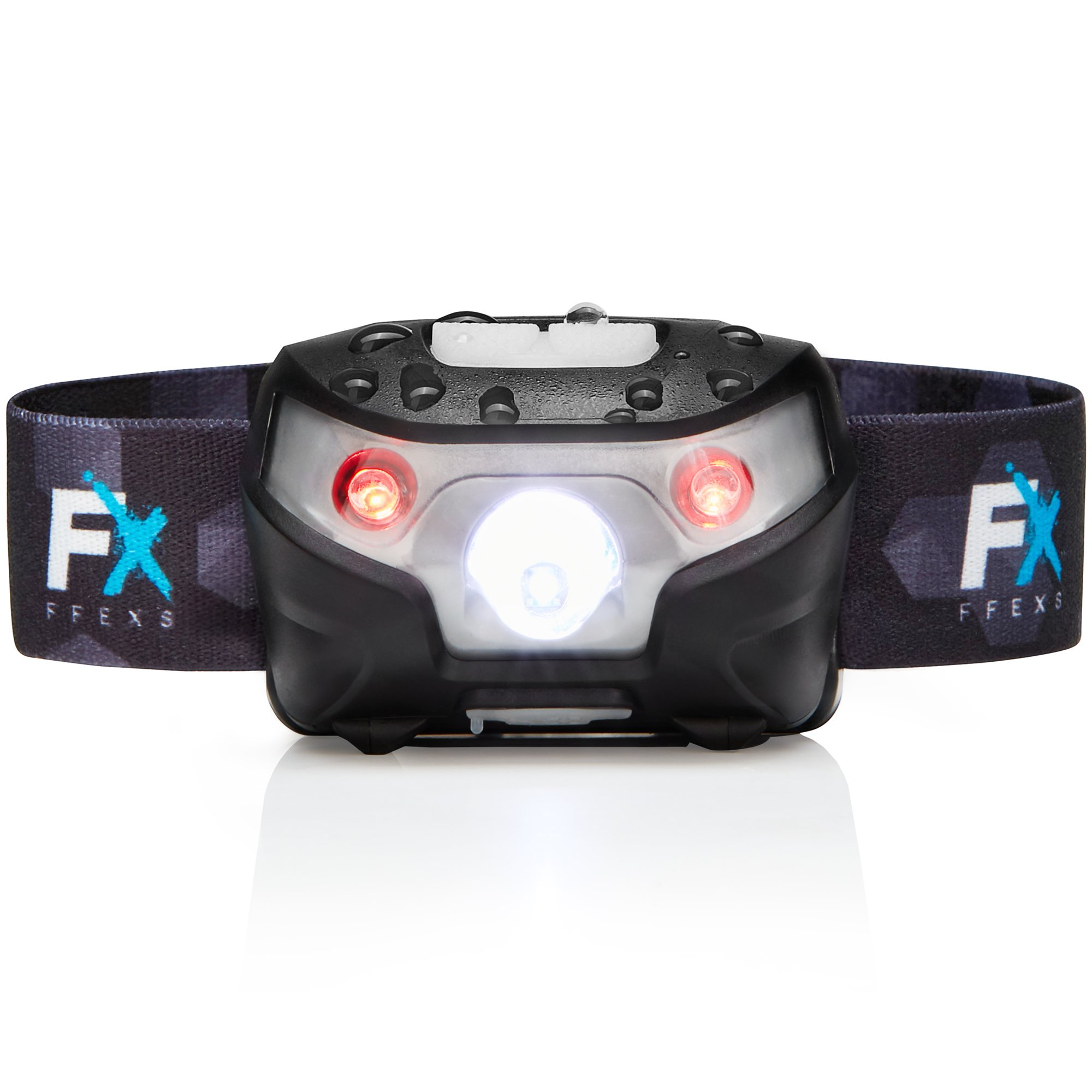 Headlamp LED Headlight Super Bright Premium USB Rechargeable Head Torch Waterproof Design - White & Red Light 5 Modes Comfortable Best Equipment Lamp Bulb Night Running Camping - Solar Flashlight Kids by FX FFEXS (Image #4)