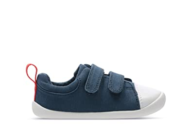 69ed9b21be9 Clarks 422857G Roamer Craft T Navy Kids First Shoes  Amazon.co.uk  Shoes    Bags