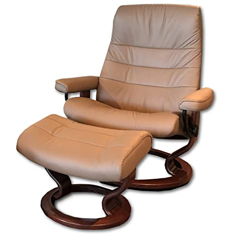 Amazon.com: Stressless Large Opal Classic Chair & Ottoman ...