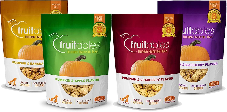 Fruitables Crunchy Baked Dog Treats with Pumpkin, 7 Ounce Variety Packs
