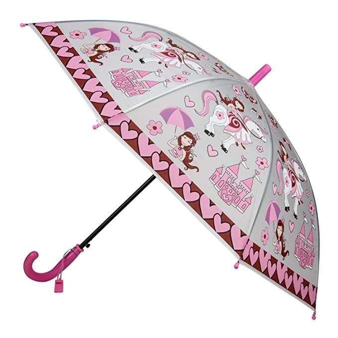 Kids Cute paraguas rosa princesa, pirata, mariposa, abeja, rana, diseño de