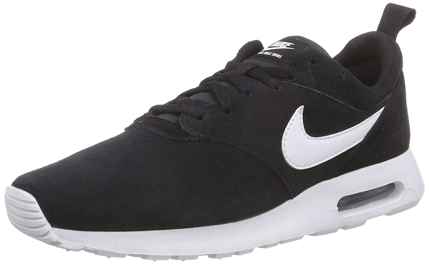 Nike Herren Air Max Tavas Ltr Low-Top  45 EU|Schwarz (Black/White 001)