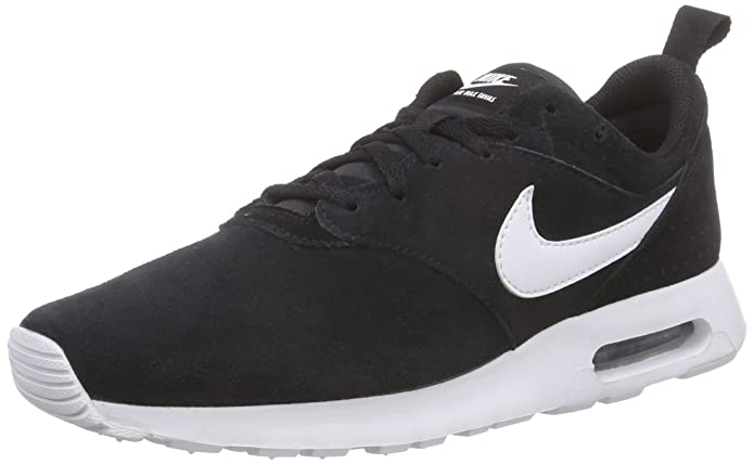 20b52ea532 Nike Men Air Max Tavas LTR Suede Sneakers (10, Black): Buy Online at Low  Prices in India - Amazon.in