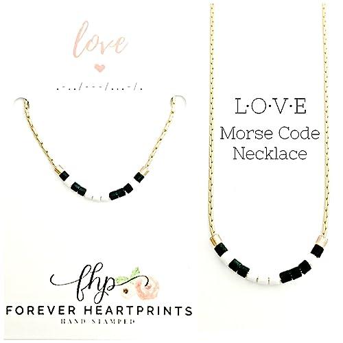 Amazoncom Love Morse Code Necklace Custom Love Necklace Wife