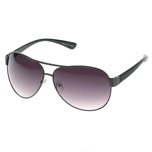 57a9ef8337 HOTLOVE Eyewear® Premium Sunglasses UV400 Lens Technology – Unisex 6203  Black Frame Fashion Aviator w