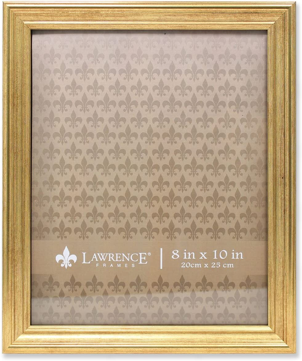 Amazon Com Lawrence Frames 536280 Sutter Gold 8x10 Picture Frame