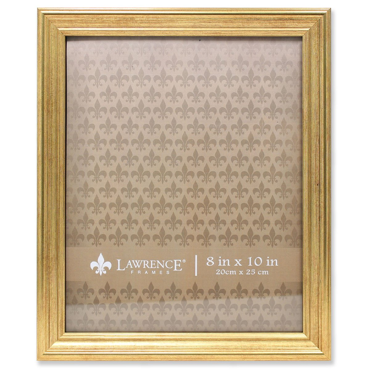 Lawrence Frames Sutter Gold 8x10 Picture Frame, 8 by 10-Inch, by Lawrence Frames