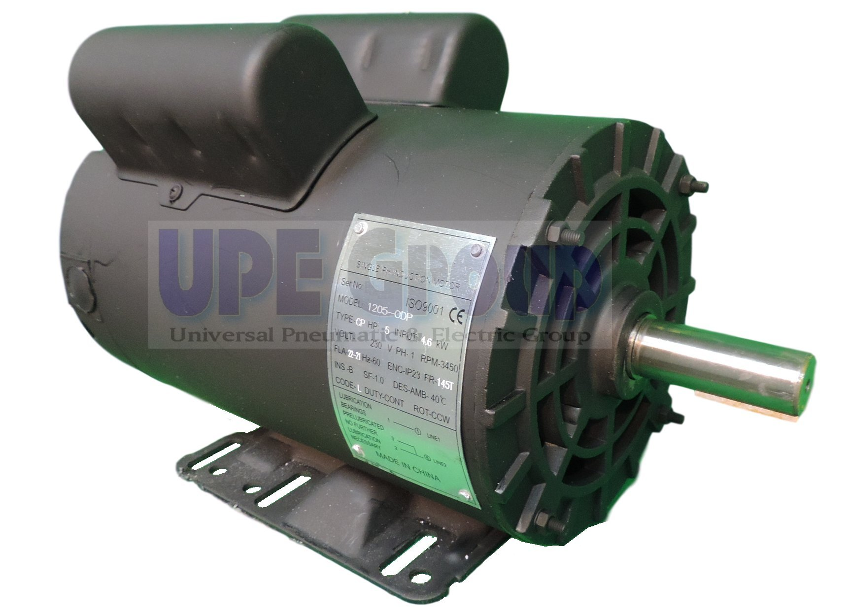 5HP 21 Amp 3450 RPM Electric Motor For Air Compressor 56 Frame 7/8'' Shaft