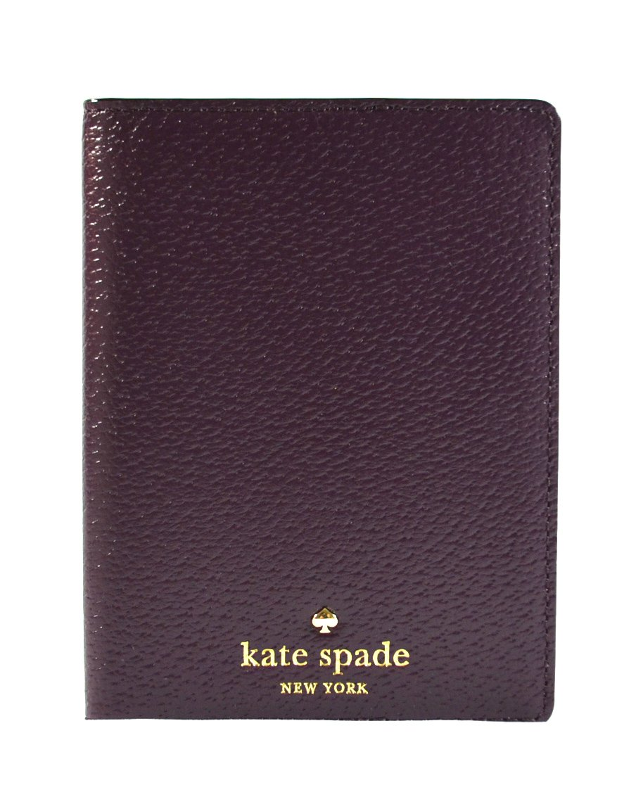 Kate Spade New York Leather Passport Case Holder Mahogany Wine Color