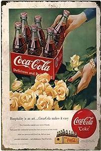 Coca Cola Retro,All The Coca Cola Brings Vintage Bar Signs Tin Sign Vintage Art Metal Poster Retro Vintage 12x16 inch