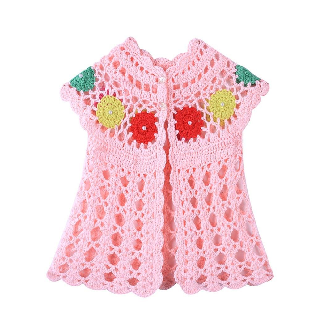 Goodtrade8 Toddler Baby Girl Sleeveless Ruffle Knitted Sweater Coat Cardigan Clothes