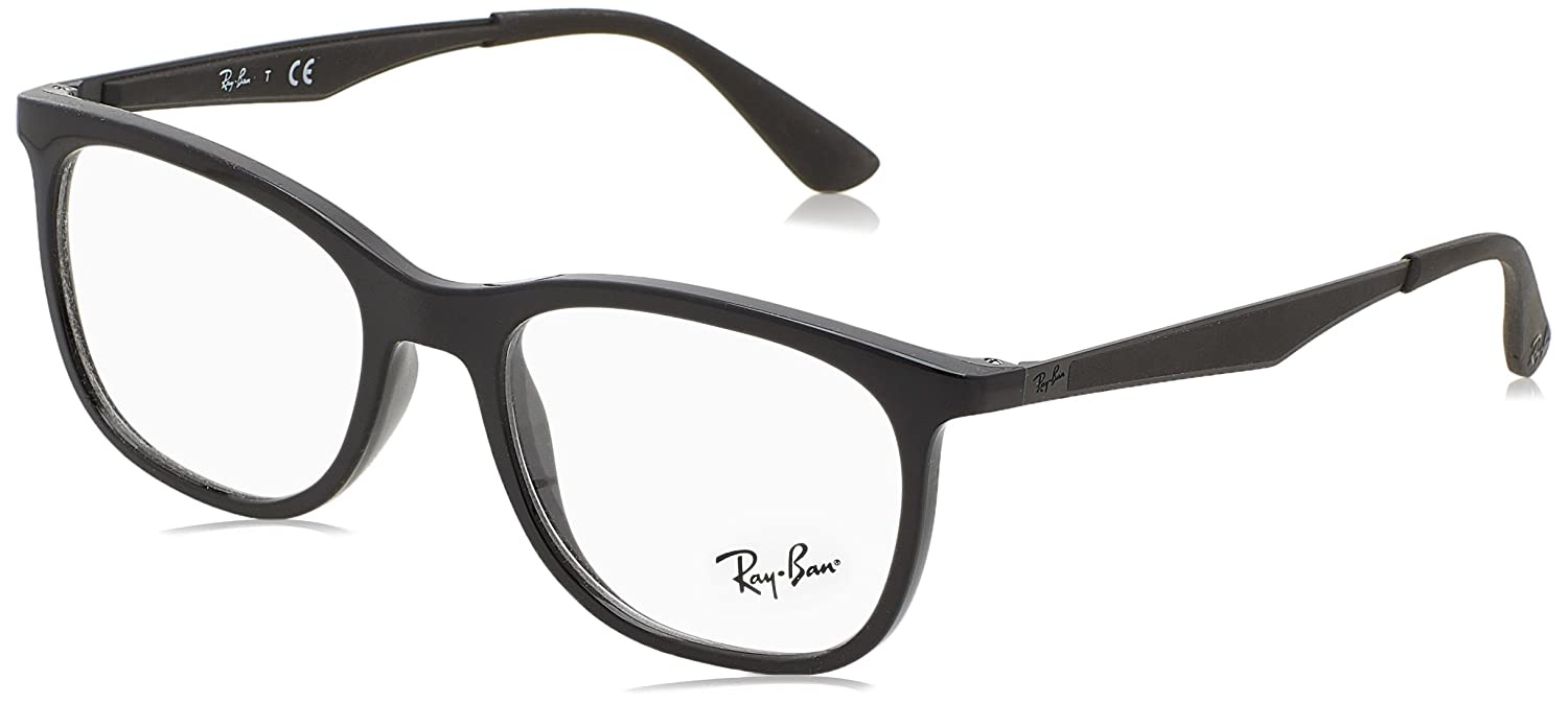 33d094fbac Ray-Ban RX7078 Glasses in Shiny Black RX7078 2000 53  Amazon.co.uk  Clothing