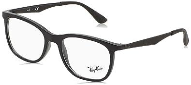 f3bf143d18247 Ray-Ban Men s 0rx7078 No Polarization Square Prescription Eyewear Frame