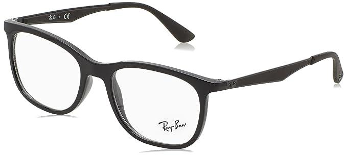Ray-Ban 0Rx7078 Monturas de gafas, Shiny Black, 51 para ...