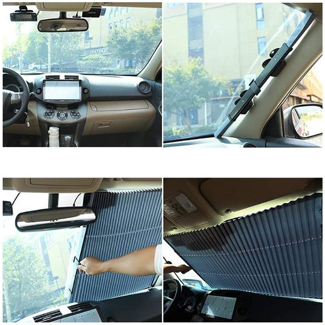 Chainscroll Durable Folding Car Front Windshield Cover Front Car Window Sunshade Sun Visors