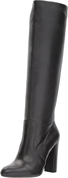 39b0b176d86 Steve Madden Women s Eton Fashion Boot Black Leather 5.5 M US
