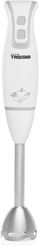 Tristar MX-4825 Batidora de mano, varilla extraíble de acero, 2 velocidades, 250 W, blanco