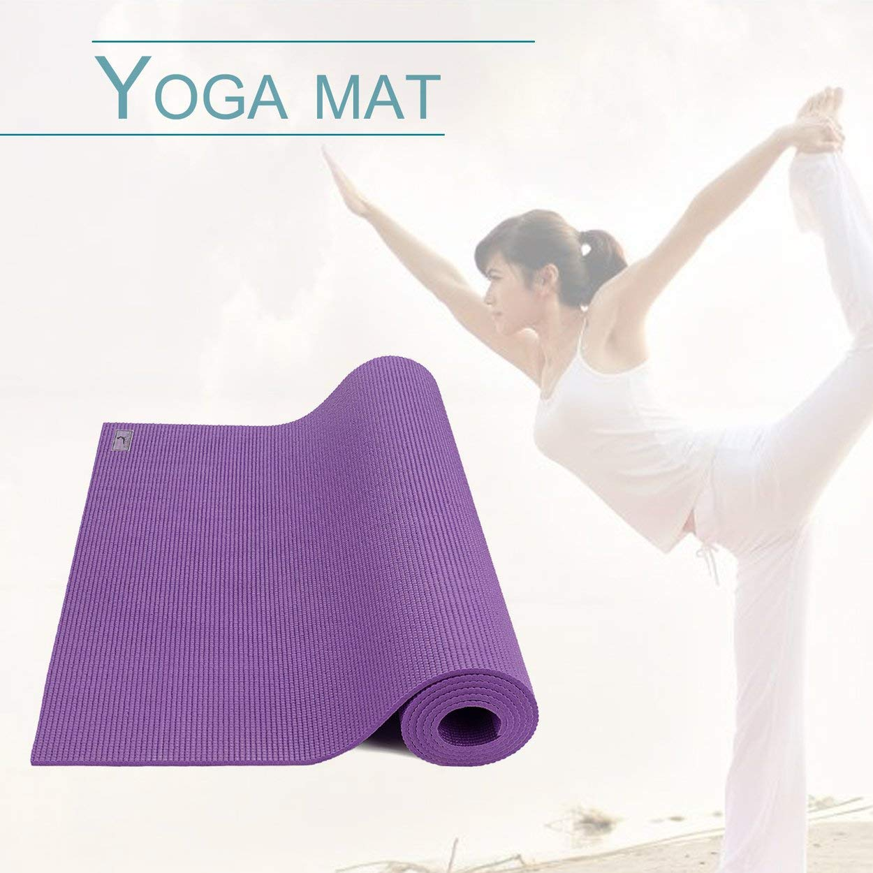 Lorenlli Ajuste PIERYOGA 6mm Estera de Yoga Gruesa PVC Color ...