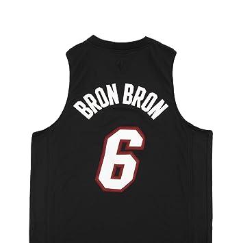 Adidas , Alero de los Miami Heat de la NBA Lebron James Negro Jersey, Hombre