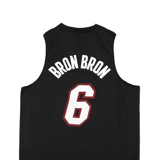 821fc19867a8 Amazon.com   NBA Men s Miami Heat LeBron James Black Swingman Jersey ...