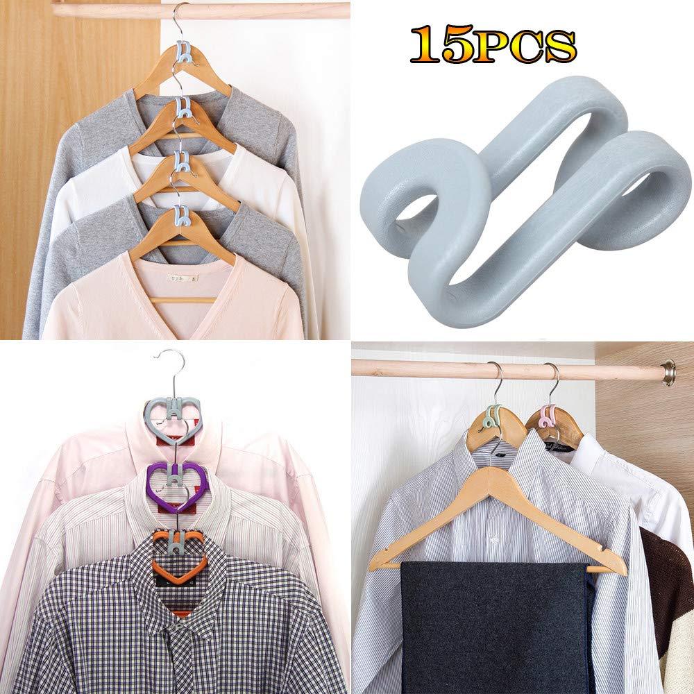Ugood 2 x15Pcs Creative Mini Flocking Clothes Hanger Home Easy Hook Closet Organizer Ugood_hanger