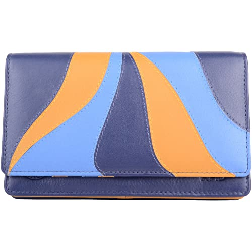 Purse Ladies Coin Holder Womens Faux Leather RFID Protected Tri-Fold Money