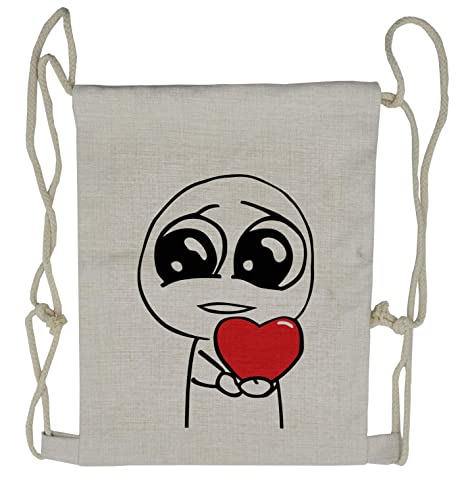 8a9d32735bb9 Amazon.com | Ambesonne Humor Drawstring Backpack, Cute Lover Romance ...